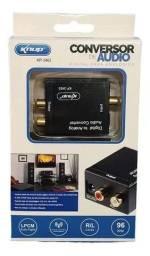Conversor De Áudio Digital Óptico Para Analógico Rca<br><br>