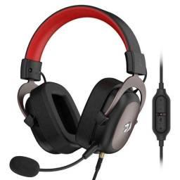 Headset Redragon Zeus 2 H510 Surround 7.1- preto e vermelho-NOVO