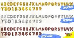 Balões Metalizados Letras ou Números nas cores Prata/Dourado/Rosé