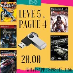 Promoção Leve 5 Pague 4 Jogos de PS2