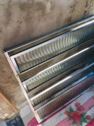 Vitro basculante 80x80 alumínio