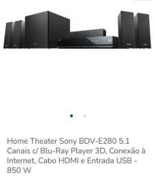 Blu-ray Sony 850 watts rms pega rádio, internet , pendriver, teclado para digitar ....