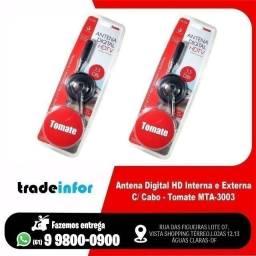 Antena Digital HD Interna e Externa C/ Cabo (Atendemos por Delivery)