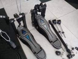 Pedal Duplo Mapex Falcon com case - Top de Linha
