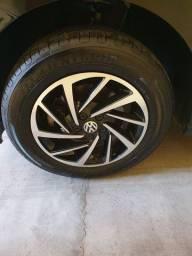 Jogo de roda 15 Zunky com 4 pneus Goodyear 195/65 R15