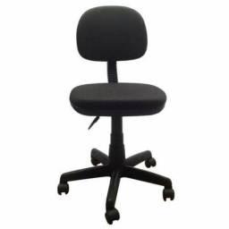 Cadeira secretaria operativa no tecido JS preto pronta entrega em ate 10x sem juros