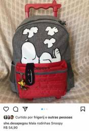 Mochila rodinhas Snoopy