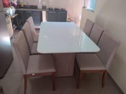 Mesa de jantar Mondeo de 6 lugares nova completa