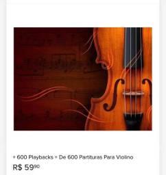 Partituras e Playbacks para Violino