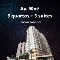 Apartamento 90m², 3 quartos + 3 suítes, Jardim América