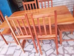 Jogo mesa nova macacauba 6 cadeiras!!!