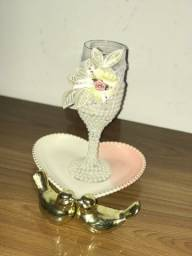 Taças de vidro para lembrancinhas de casamento