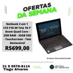Netbook 2 em 1 CCE F10-30 Tela 10.1