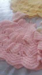 Vestidinhos de tricô para boneca