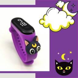 Relógio infantil LED pulseira digital