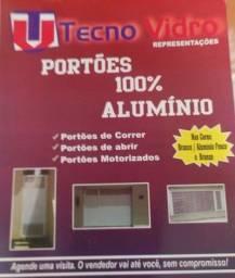 Portões 100% alumínio. 75- *
