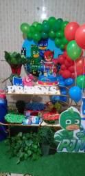 Festa decorada do PJ MASKS SÓ R$ 199