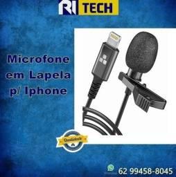 Microfone Lapela Lightning P/ iPhone
