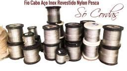 Cabo Aço inox revestido em nylon para Pesca