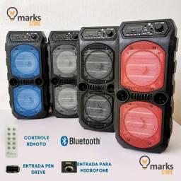 Caixa de Som Torre Portátil Bluetooth com Controle