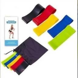 Título do anúncio: Kit Faixas Elásticas Tipo Mini-bands p/ Exercícios Funcionais