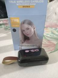 Fone de ouvido Bluetooth Wireless Earbuds, with power bank,BTH-F9-5