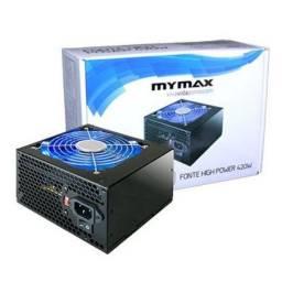 Fonte Gamer Atx 500w Real Led Azul 24 Pinos 2 Sata High Power