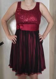 Vestido de festa Vermelho e Preto