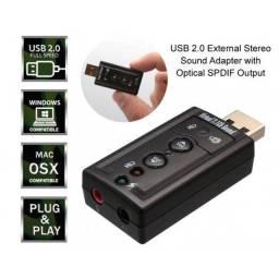 Placa de Som USB de Notebook e PC