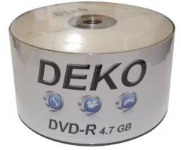 DVD-R midia 4.7 com logo (50 unidades)