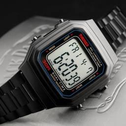Relógio Unissex Skmei Digital 1337 Vintage - Preto
