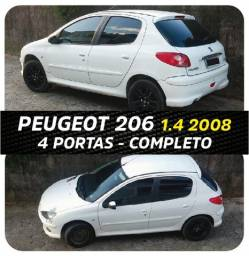 Peugeot 206 Completo 1.4 Ano 2008