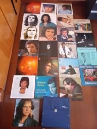 Discos Vinil LPs Raros coleção Roberto Carlos, acompanha case