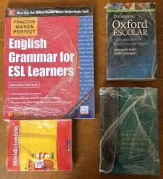 Livros de Inglês - Gramática + Dicionários + Brinde!!!