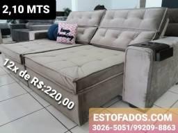 Sofá com Pillow Top Europeu! >> (12X de R$:220,00)
