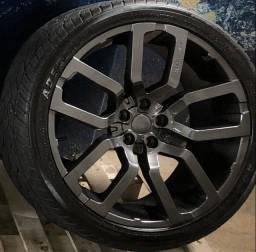 Jogo de rodas 22 com pneus