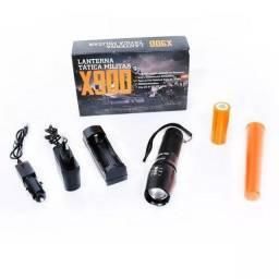 Lanterna X900 Original Na Caixa Recarregável C/ Zoom Completa