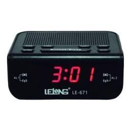 Rádio relógio completo diversas funções de alarme