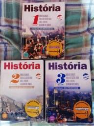 Livros de História, excelentes para vestibular.