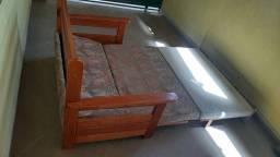 Sofá cama madeira maciça