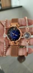 Oferta Especial - Relógio Feminino com Braceletes