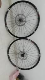 Troco rodagem completa com disco e cubo shimano
