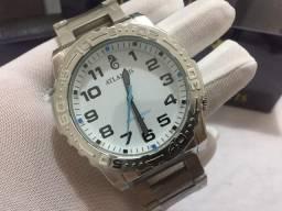 Relógio prateado fosco ATLANTIS a prova d?água