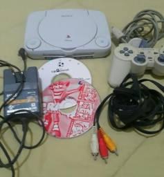 Playstation 1 , PSone , funcionando bem conservado completo