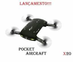 Drone Pocket AirCraft X20 lançamento
