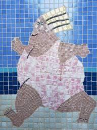 Quadros mosaico de pastilhas de vidro