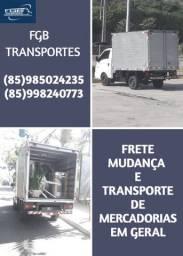 Frete, Mudança e Transporte de Mercadorias em Geral.