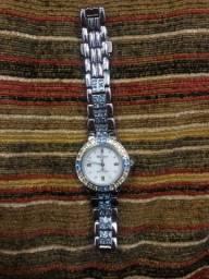 Lindo! Relógio Armitron azul com dourado