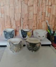 Vasos para suculentas personalizados de acordo com a foto do seu pet