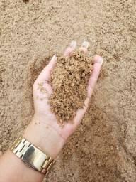 Areia lavada sem misturas
